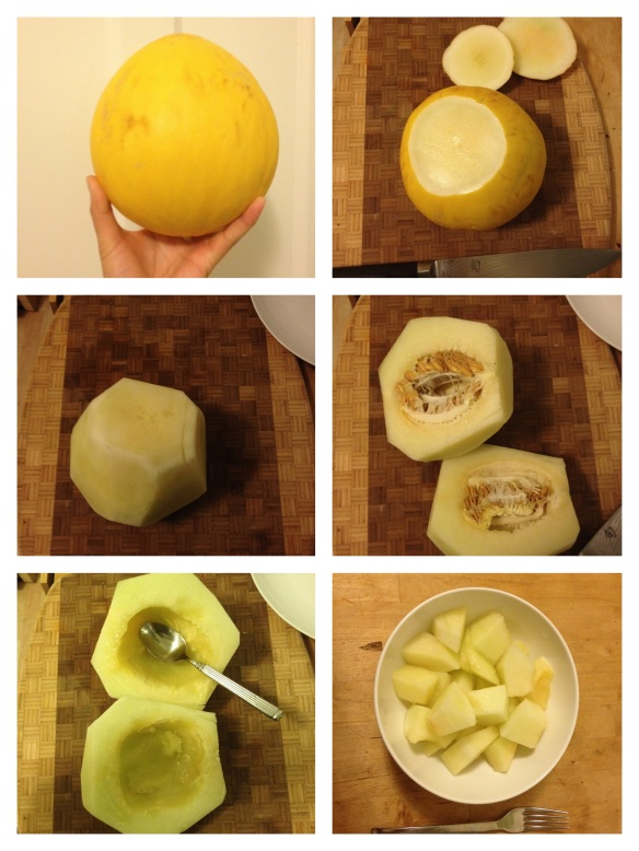 how to cut melon