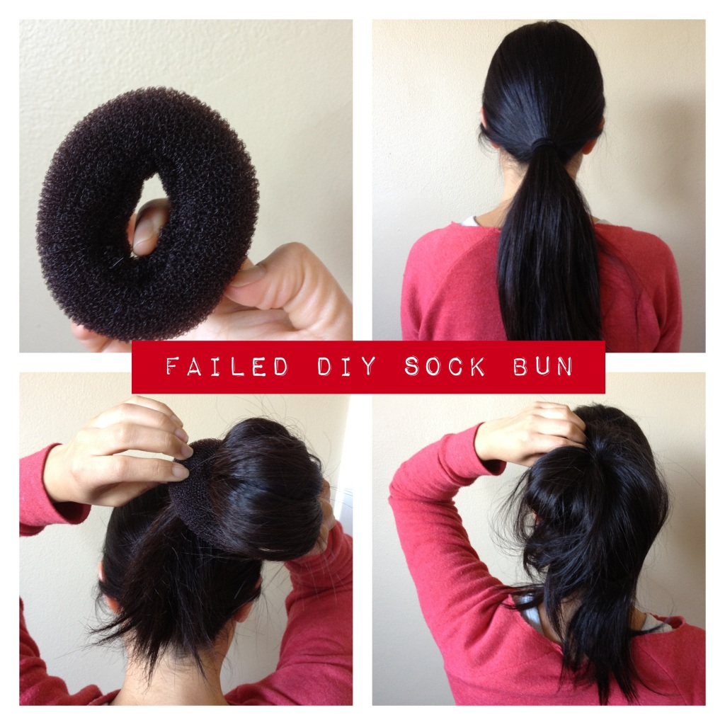 Failed DIY sock bun experiment