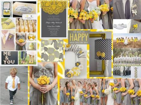 Yellow and grey wedding centerpieces wedding decorations